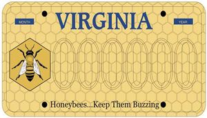 honey bee license plate